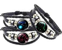 Bracelet cuir constellation zodiaque du Capricorne